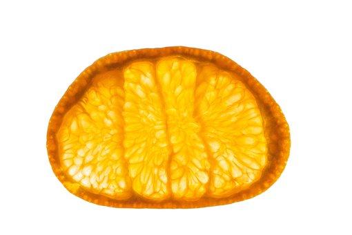 Macro, White Background, Fruit, Mandarin, Orange