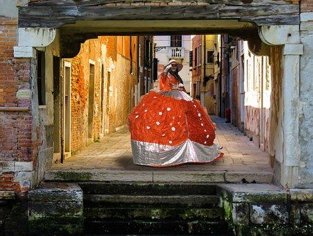 Woman, Costume, Mask, Women's Power, Carnival, Dress