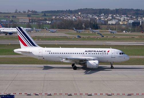 Aircraft, Air France, Airbus, A319, Airport Zurich