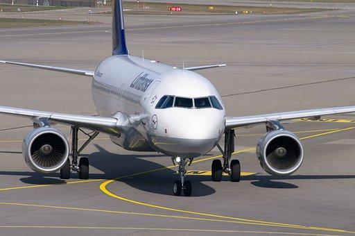Aircraft, Lufthansa, Airport, Airbus, A320, Tarmac