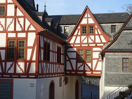 Truss, Medieval, Compartments, Wood, Building, Old, Bar