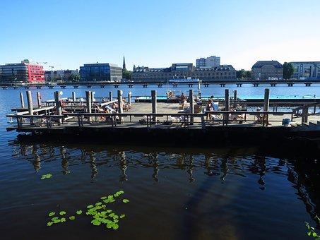 Bathing Ship, Berlin, Outdoor Pool, Summer, Beach
