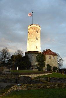 Sparrenburg, Bielefeld, Tower, Twilight, Historically