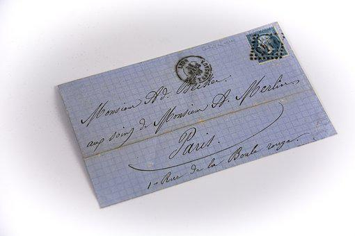 Old Letter, Mail, Philately, Collection, French Stamps