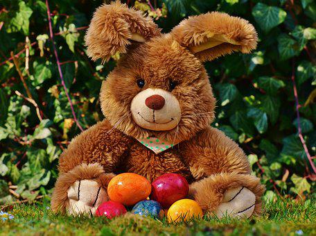 Easter Bunny, Happy Easter, Colorful Eggs, Colorful