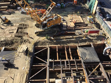Construction, Hole, Equipment, Men-at-work, Constructor