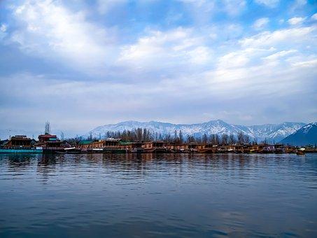 Landscape, Dal Lake, Srinagar, View, Himalayas, Kashmir