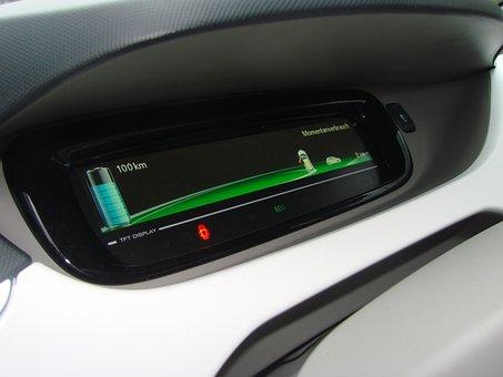 Electric Car, Speedo, Display, Renault, Energy, Tft