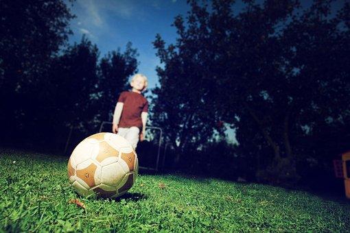 Child, Football, Education, Child Poverty, Dark, Alone