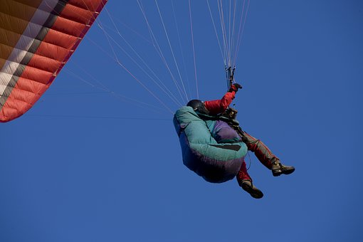 Paragliding, Flying, Paraglider, Sky, Float, Freedom