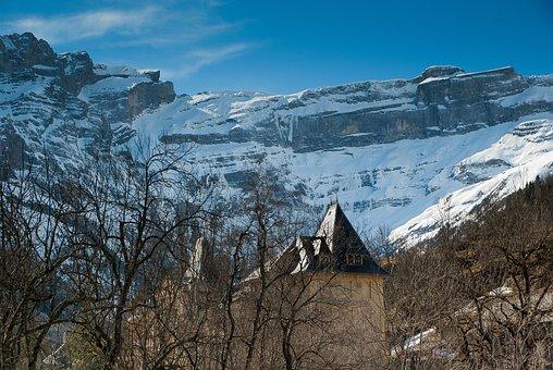 Pyrénées, Béarn, Gavarnie, Circus, Valley