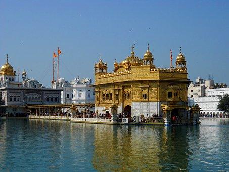 Golden, Temple, Amritsar, Punjab, God, Sea, Background