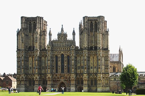 Wells, Cathedral, Architecture, Gothic, Medieval