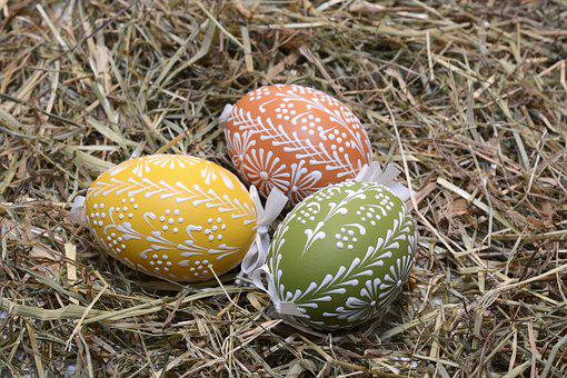 Easter Eggs, Egg, Painted, Easter, Happy Easter