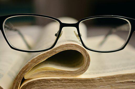 Bible, Glasses, Book, Holy Scripture, Book Pages