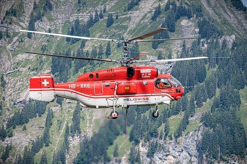 Helicopter, Logging, Work, Alpine, Kamov