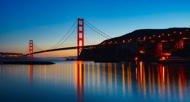 Panorama, Golden Gate Bridge, Landmark, Historic