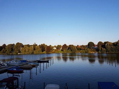 Lake, Landscape, Northern Germany, Scharbeutzer Heath