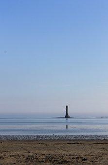 Lighthouse, Sea, Cranfield, Landscape, Beach