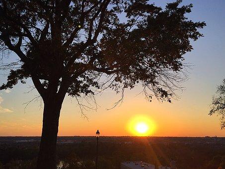 Sunset, Libby Hill Park, Rva, Tree