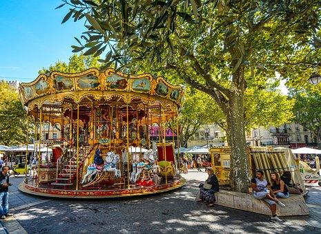 Avignon, Provence, France, Merry Go Round, Carousel