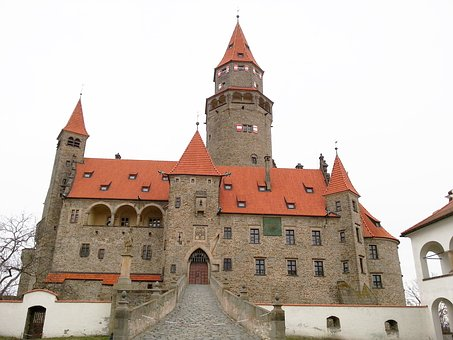 Castle, Bouzov, Outdoor View