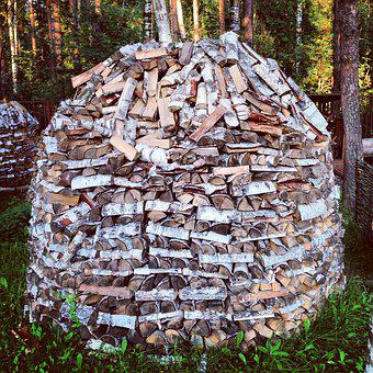 Firewood, Oven, Flame, Forest, Outdoors