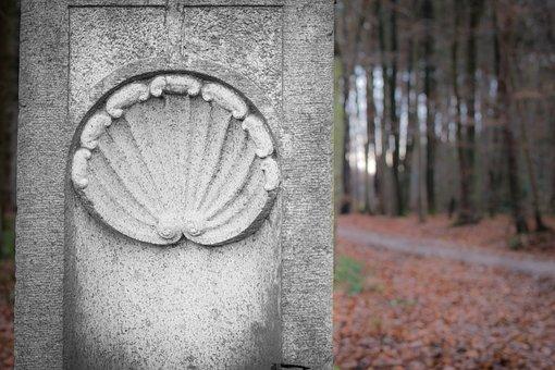 Ornament, Shell, Scallop, Jakobsweg, Stone, Characters