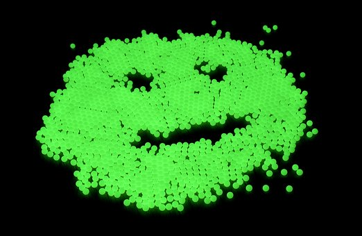 Smiley, Dark, Night Light Color, Airsoft, Ammunition