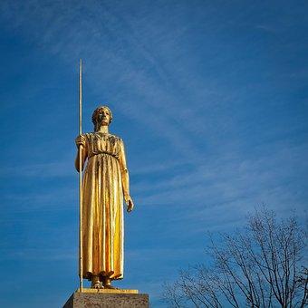Statue, Golden, Sculpture, Figure, Gilded