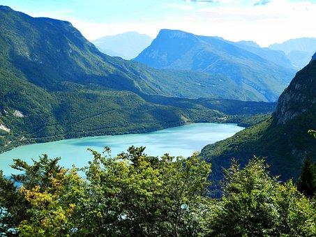 Lake Molveno, Mountain Lake, Water