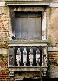 Architecture, Building, Balcony, Window, Door, Old