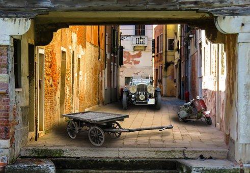 Architecture, Vehicles, Building, Auto, Old, Automotive