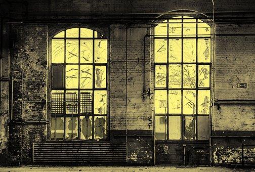 Window, Factory, Lost Places, Facade, Broken, Glass