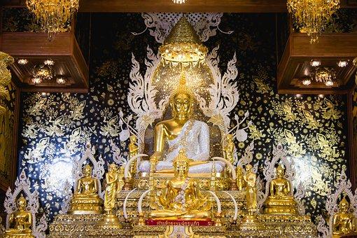 Asia, Bangkok, Buddha, Incense, Candles, Buddhist