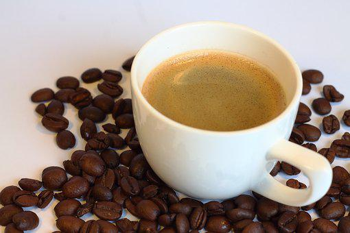 Espresso, A Cup Of Coffee, Coffee, Coffee Beans, Cafe