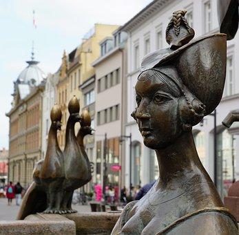 Statue, Art, Woman, Constance