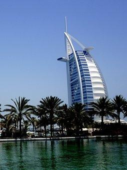 Burj Al Arab, Dubai, Jumeirah Beach, Burj, Water, Sea