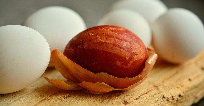 Egg, Easter Egg, Onion Skins, Dye Easter Eggs