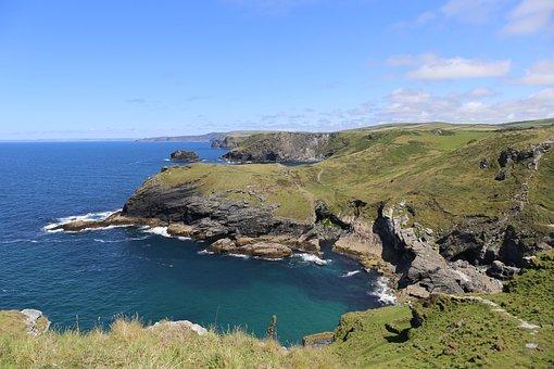 Cornwall, Coastline, England, Coast, Cornish, Ocean