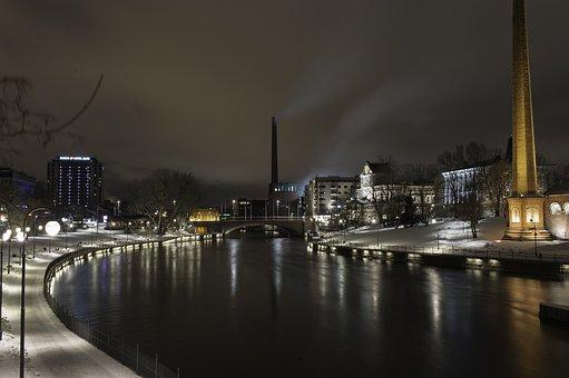 Night, Dark City, The Dark Sky, Winter, Water, Finnish