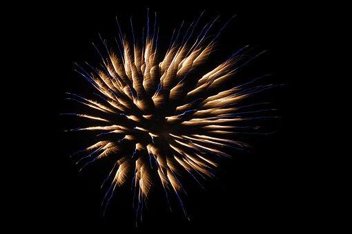 Fireworks, Pyrotechnics, New Year's Eve, Night