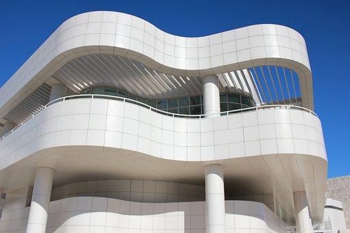 Architecture, Getty Center, L, A, White Building