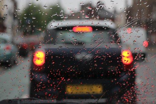 Car, Rain, Gloomy, Raindrop, Water, Moody, Dark, Cold