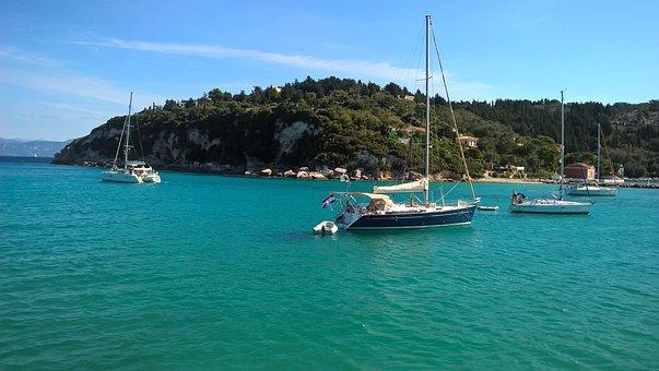 Water, Corfu, Holiday, Greece