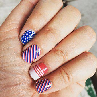 Nail Art, 4th Of July Nails, Hands, Jamberry