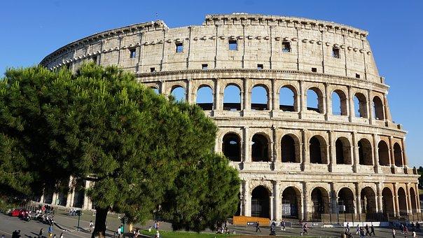 Rome, Italy, Colosseo, Coliseum, Gladiators, Building