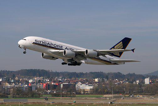 Aircraft, Singapore Airlines, Airbus A380, Jet