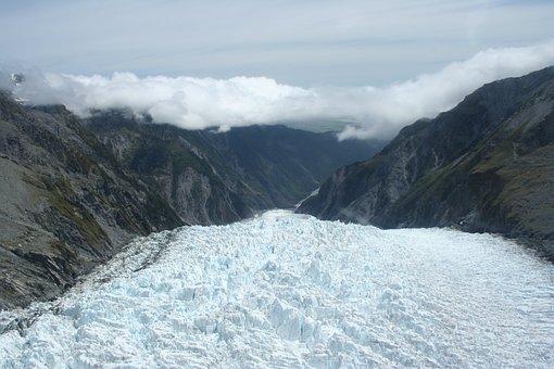 New, Zealand, Glacier, Landscape, South, Franz, Josef