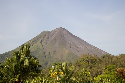 Volcano, Nature, Costa Rica, La Fortuna Volcano